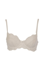 Body Lace Contour Bra - White
