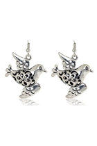 Small Bird Metal Earrings