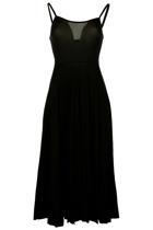 Metalicus Basic Flared Slip Dress