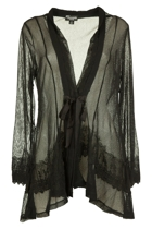 Threadz Mesh Cardigan W Lace Emb