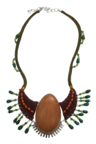 Zoda Large Pendant Bead Necklace