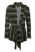 Threadz Striped Knit Cardigan