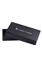 Eel Skin Trifold Wallet With Box