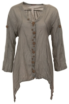 Namastai Multi Button Tie Blouse