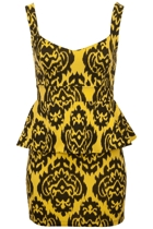 Reverse Ikat Peplum Dress