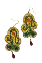 Zoda Fabric Fantasy Bead and Drop Earring