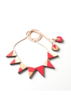 Polli Bead Flag Wood Necklace