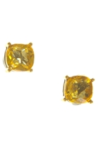 Clear Cushion Cut Claw Stud Earring