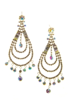 Adorne Three Tier Jewelled Droplet Earring
