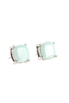 Paque Cushion Cut Claw Stud Earring