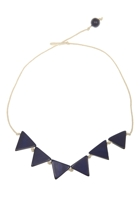 Rare Rabbit Bunting Triangle Necklace