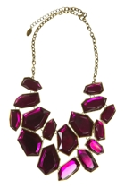 Adorne Pointed Jewelled Shapes Statement Necklace