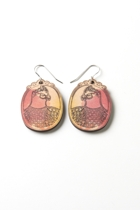 Polli Galah Wooden Earrings