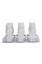 Owl Tea Light Candle Set Of 6