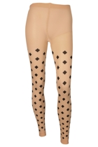 Diamond Footless Tights