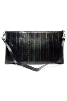Eel Skin Clutch With Zipper