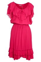 Crepe Ruffle Dress