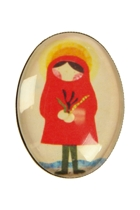 Red Girl Brooch