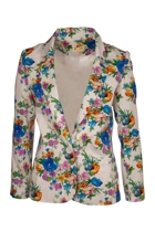 Floral Cotton Blazer