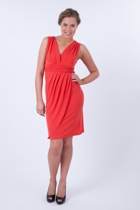 Martini All Woman V Neck Drape Dress