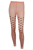 Polka Dot Footless Tights