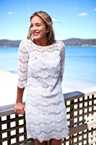 Lace Silk Lines Dress