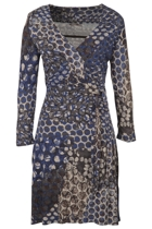 Twighlight Print Wrap Dress