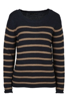 Jump Roving Stripe Pull Over Jumper