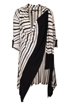 Knotted Stripe Cardigan
