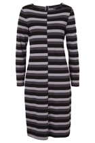 Gordon Smith Stripe Jersey Boat Neck Dress