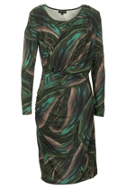 Arianne Rainforest 3/4 Slv Dress