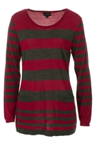 Merino Stripe Pkt Detail Knit Jumper