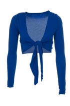 Metalicus Basic Tie Long Sleeve Wrap Top