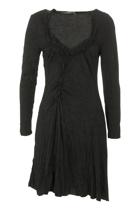 Hammock & Vine Mesh Jersey Shirred Dress