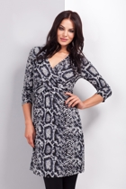 Snake Print Cross Over Dress