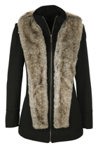 Seduce Reign Coat With Detachable Fur