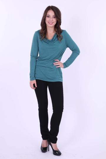 marco polo clothing long sleeve cowl neck top womens tees birdsnest online shop. Black Bedroom Furniture Sets. Home Design Ideas