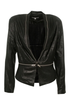 Orientique Open Jacket With Zip Detail