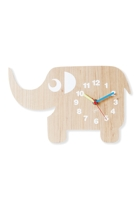 Elephant Wood Veneer Wall Clock