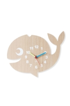 Whale Wood Veneer Wall Clock