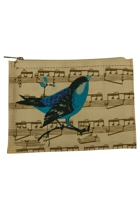Large Singing Bird Zip Purse