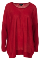 Gordon Smith Merino Rib Sleeved Knit Top