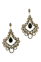 Adorne Jewel Drop Chandelier Earrings