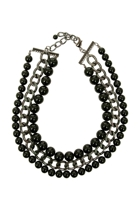 Adorne Layer Glass Ball Chain Necklace