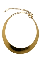 Adorne Mini Concave Collar Necklace