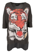 Mink Pink Tiger Army Slouch Tee