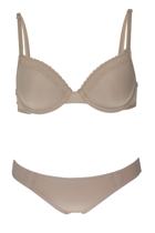 Microfibre Lace T-Shirt Bra & Brief Set