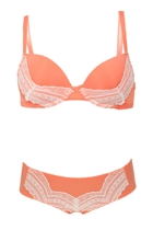 Padded Bra w Lace Trim & Hipster Brief Set