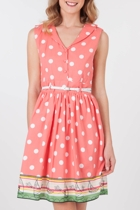 Yumi Dotties Sundress With Belt