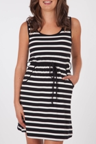 Nest Picks Stripe Tie Waist Dress